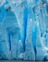 Lago Grey Glacier. Prayer hands in ice. Lago Grey lake in  Torres del Paine National Park, Chile