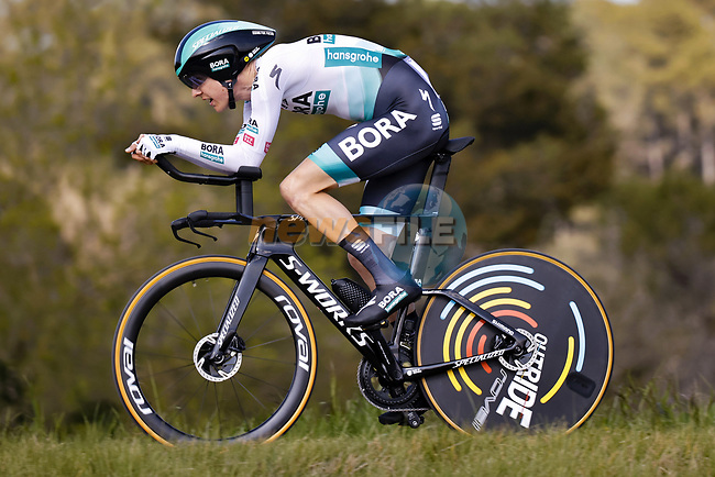 Wilco Kelderman (NED) Bora-Hansgrohe in action during Stage 2 of the 100th edition of the Volta Ciclista a Catalunya 2021, an 18.5km Individual Time Trial around Banyoles, Spain. 23rd March 2021.   <br /> Picture: Bora-Hansgrohe/Luis Angel Gomez/BettiniPhoto | Cyclefile<br /> <br /> All photos usage must carry mandatory copyright credit (© Cyclefile | Bora-Hansgrohe/Luis Angel Gomez/BettiniPhoto)