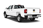 Car pictures of rear three quarter view of a 2015 Chevrolet Silverado 2500 HD Work Truck Double Cab LWB 4 Door  Angular Rear