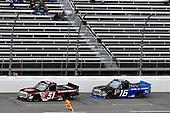 #51: Harrison Burton, Kyle Busch Motorsports, Toyota Tundra Morton Buildings, #16: Brett Moffitt, Hattori Racing Enterprises, Toyota Tundra AW N.C. / AISIN GROUP