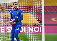 Football, Serie A: AS Roma - Atalanta Olympic stadium, Rome, April 22, 2021. <br /> Roma's goalkeeper Pau Lopez in action during the Italian Serie A football match between AS Roma and Atalanta at Rome's Olympic stadium, Rome, on April 22, 2021.  <br /> UPDATE IMAGES PRESS/Isabella Bonotto
