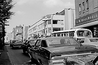 MONTREAL, CANADA - File Photo -  St-Catherine and St-Laurent in August 1973 .<br /> <br /> File Photo : Agence Quebec Presse - Alain Renaud