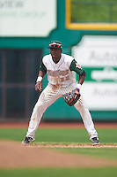 Fort Wayne TinCaps shortstop Ruddy Giron (16) during the second game of a doubleheader against the Great Lakes Loons on May 11, 2016 at Parkview Field in Fort Wayne, Indiana.  Great Lakes defeated Fort Wayne 5-0.  (Mike Janes/Four Seam Images)