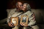 (from left) Lew Weltzer (cq) and his wife Lyna Weltzer (cq) have been married for 61 years.  They were both Marines during WWII. He was stationed at Pearl Harbor when the Japanese bombed the island, prompting the United States to join the war. She enlisted after becoming eligible to serve in the armed forces as a marine in 1945. They both met when mutual friends arranged a blind date. Shortly after, they married. ..They are both traveling to Pearl Harbor on Tuesday, December 4th, 2007. .(JAVIER MANZANO / THE ROCKY MOUNTAIN NEWS).Lew Weltzer (cq)  Lyna Weltzer (cq)