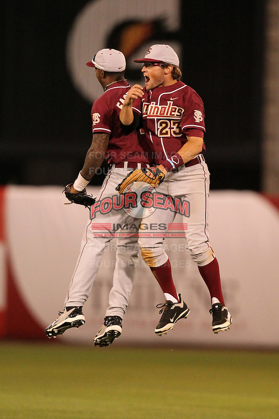 """Florida State Seminoles James Ramsey #23 during a game vs. the Florida Gators in the """"Florida Four"""" at George M. Steinbrenner Field in Tampa, Florida;  March 1, 2011.  Florida State defeated Florida 5-3.  Photo By Mike Janes/Four Seam Images"""