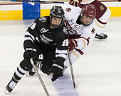 Jacob Bryson (PC - 18), Michael Kim (BC - 4) - The Boston College Eagles defeated the visiting Providence College Friars 3-1 on Friday, October 28, 2016, at Kelley Rink in Conte Forum in Chestnut Hill, Massachusetts.The Boston College Eagles defeated the visiting Providence College Friars 3-1 on Friday, October 28, 2016, at Kelley Rink in Conte Forum in Chestnut Hill, Massachusetts.