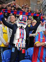 Pictured: A Crystal Palace supporter in Star Wars Star trooper outfit<br /> Re: Premier League match between Crystal Palace and Swansea City at Selhurst Park on Sunday 24 May 2015 in London, England, UK