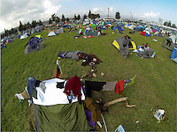 Pictured: General view of the camp Tuesday 01 March 2016<br />