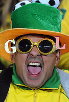 A Brazil fan. Brazil defeated South Africa 1-0 during the semi-finals of the FIFA Confederations Cup at Ellis Park Stadium in Johannesburg, South Africa on June 25, 2009..