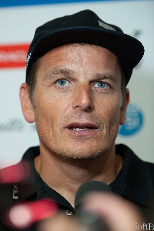 Dean Barker, JULY 21, 2016 - Sailing: Dean Barker, skipper/CEO of SoftBank Team Japan during the Louis Vuitton America's Cup World Series press conference, Portsmouth, United Kingdom. (Photo by Rob Munro/Stewart Communications)