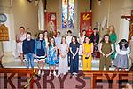 Pupils from Scoil Mhichíl Naofa, Ballinskelligs who made their Confirmation on Saturday in St Michaels Church Dun Geagan  pictured here front l-r; Harry Ó Guinídhe, Ruth Ní Ghuinídhe, Lucey Ní Ghuinídhe, Meabh Nic an tSionnaigh, Ali Nic an Ghaill, Holly Ní Leidhin, Grace Ní Leidhin, Isabelle Oum, back l-r; Laoise Nic Aogáin(Principal), Amber Ni Mhurchú, Séamus Ó Laoi, Ciarán Ó Sé, Hannah Ní Dhuibhir- Ní Fhoghlú, Fr Patsy Lynch, Múinteoir Catherine O'Donnell agus Múinteoir Síle Ni Chonaill.