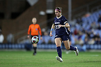 CHAPEL HILL, NC - NOVEMBER 29: Lotte Wubben-Moy #23 of the University of North Carolina plays the ball during a game between University of Southern California and University of North Carolina at UNC Soccer and Lacrosse Stadium on November 29, 2019 in Chapel Hill, North Carolina.