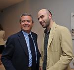 EZIO MAURO E ROBERTO SAVIANO<br /> MOSTRA TULLIO PERICOLI     ARA PACIS ROMA 2010