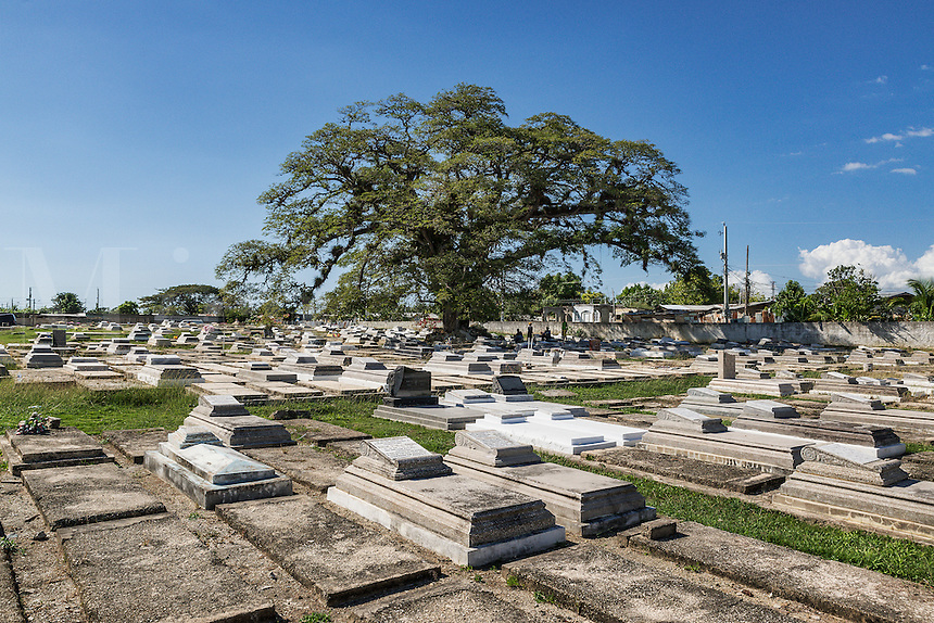 Cemetery in the town of Savanna La Mar, Jamaica