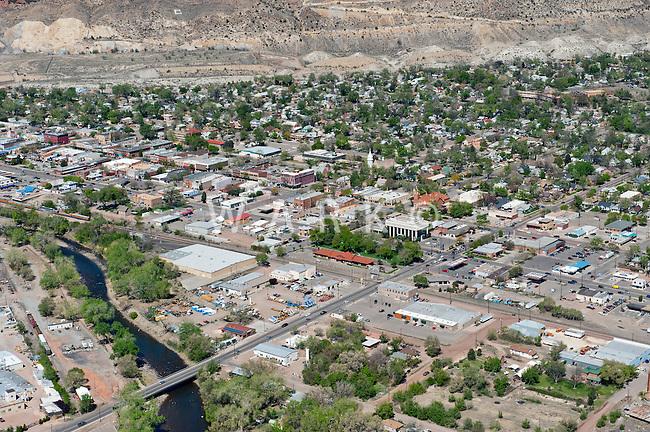 Aerial of Canon City, Colorado. April 2012