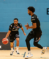 Caylin Raftopoulos of Surrey Scorchers during the BBL Championship match between Surrey Scorchers and Newcastle Eagles at Surrey Sports Park, Guildford, England on 20 March 2021. Photo by Liam McAvoy.