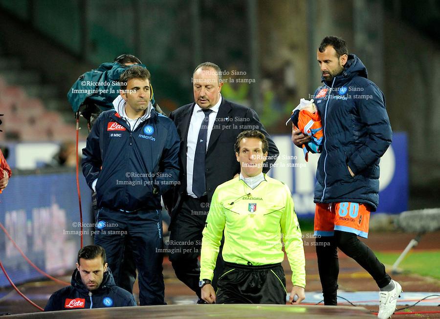 - NAPOLI 23 MAR  -  Stadio San Paolo    Napoli -  Fiorentina<br />  nella foto <br />   benitez e pecchia