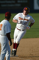 Joey Metropolus of the Southern California Trojans runs the bases during a 2004 season game at Dedeaux Field in Los Angeles, California. (Larry Goren/Four Seam Images)