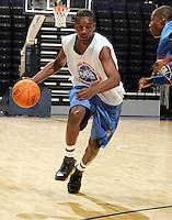 WF Jordan Hamilton (Los Angeles, CA / Dorsey) drives the ball during the NBA Top 100 Camp held Thursday June 21, 2007 at the John Paul Jones arena in Charlottesville, Va. (Photo/Andrew Shurtleff)