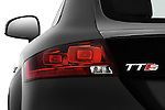 Tail light close up detail view of a 2010 Audi TTS Coupe