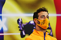 26th August 2021; Spa Francorchamps, Stavelot, Belgium: FIA F1 Grand Prix of Belgium, driver arrival day:  3 Daniel Ricciardo AUS, McLaren F1 Team