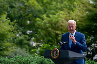 United States President Joe Biden delivers remarks during a signing ceremony to restore and protect 3 national monuments on the North Lawn of the White House in Washington, DC, USA, 08 October 2021. President Biden during his remarks highlighted steps the Biden-Harris Administration is taking to better conserve and restore lands and waters that sustain the health of our communities, tackle the climate crisis, and power good jobs and a strong economy.<br /> CAP/MPI/RS<br /> ©RS/MPI/Capital Pictures