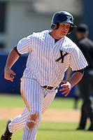 Xavier Musketeers Ben Thomas #28 during a game vs. the Akron Zips at Chain of Lakes Park in Winter Haven, Florida;  March 11, 2011.  Xavier defeated Akron 7-0.  Photo By Mike Janes/Four Seam Images
