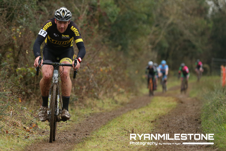 EVENT:<br /> Round 5 of the 2019 Munster CX League<br /> Drombane Cross<br /> Sunday 1st December 2019,<br /> Drombane, Co Tipperary<br /> <br /> CAPTION:<br /> Brian McCarthy of MBCC in action during the A Race - M40<br /> <br /> Photo By: Michael P Ryan