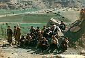 Iraq 1993.In Zahle, PKK's fighters with members of their family visiting them  Irak 1993. Combattantes du PKK a Zahle avec des membres de leurs familles les visitant