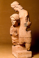 Greek Art:  Group of Theseus and Antiope, 500-490 B.C.  Greek Ministry of Culture, Athens.