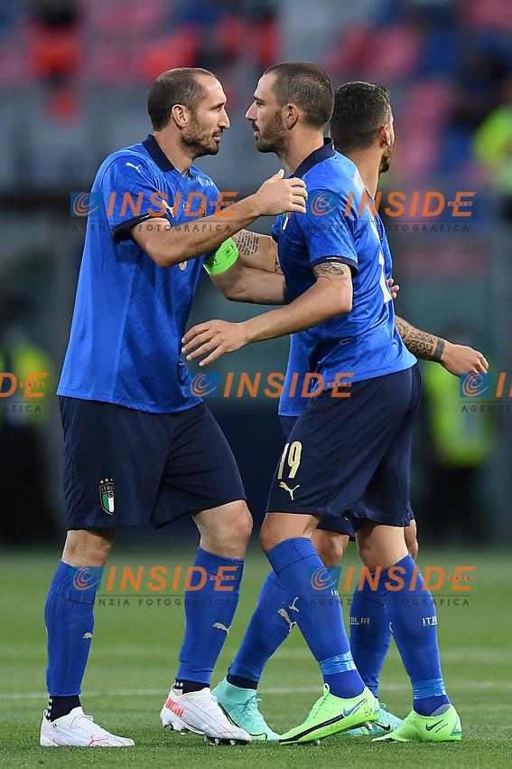 Leonardo Bonucci,Giorgio Chiellini<br /> Uefa European friendly football match between Italy and Czech Republic at stadio Renato Dall'Ara in Bologna (Italy), June, 4th, 2021. Photo Image Sport / Insidefoto