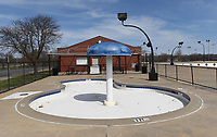 The April 13 bond proposal includes $32.75 million for parks, including renovations at the Melvin Ford Aquatic Center, seen Tuesday March 16 2021, at Memorial Park.<br />