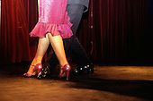 Buenos Aires, Argentina. Dancing couple's feet during the Tango.