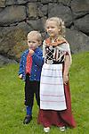 Native dress St. Olav Festival,Torshavn, Faroe Islands