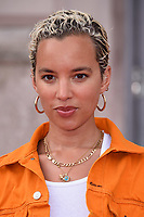 """Pheobe Collings-James<br /> arriving for the premiere of """"The Wife"""" at Somerset House, London<br /> <br /> ©Ash Knotek  D3418  09/08/2018"""