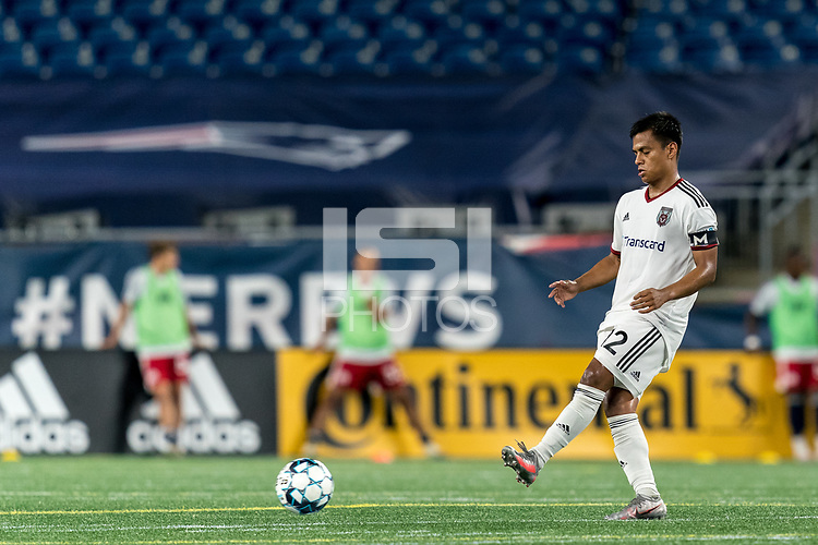 FOXBOROUGH, MA - SEPTEMBER 09: Ricky Ruiz #12 of Chattanooga Red Wolves SC passes the ball during a game between Chattanooga Red Wolves SC and New England Revolution II at Gillette Stadium on September 09, 2020 in Foxborough, Massachusetts.