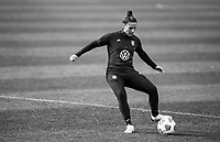 COMMERCE CITY, CO - OCTOBER 25: Ali Krieger of the USWNT passes the ball at Dick's Sporting Goods training fields on October 25, 2020 in Commerce City, Colorado.