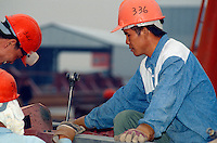 Bauarbeiter in Hongkong, China