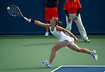 Sara Errani (ITA) loses  at the Western and Southern Financial Group Masters Series in Cincinnati on August 16, 2012