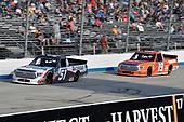 #51: Brandon Jones, Kyle Busch Motorsports, Toyota Tundra Chigo/Menards and #19: Derek Kraus, Bill McAnally Racing, Toyota Tundra ENEOS/NAPA FILTERS