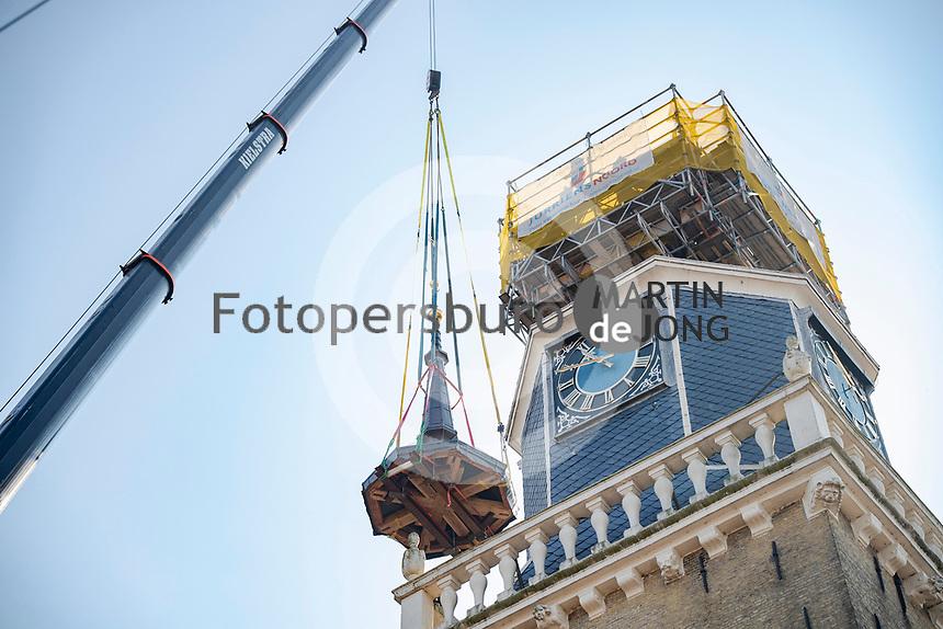 ALGEMEEN: JOURE: 15-09-2020, herplaatsing spits van de Jouster Toer , ©Fotopersburo Martin de Jong