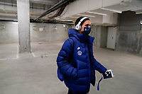 LE HAVRE, FRANCE - APRIL 13: Alex Morgan #13 of the United States arriving at the stadium before a game between France and USWNT at Stade Oceane on April 13, 2021 in Le Havre, France.