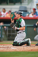 Daytona Tortugas catcher Tyler Stephenson (30) during a game against the Florida Fire Frogs on April 7, 2018 at Osceola County Stadium in Kissimmee, Florida.  Daytona defeated Florida 4-3 in a six inning rain shortened game.  (Mike Janes/Four Seam Images)