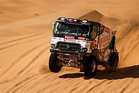 4th January 2021; Dakar Rally stage 2;  511 Huzink Gert (nld), Buursen Rob (nld), Roesink Martin (nld), Renault, Riwald Dakar Team, Camion, Truck, action during the 2nd stage of the Dakar 2021 between Bisha and Wadi Al Dawasir, in Saudi Arabia on January 4, 2021