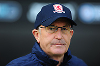 Tony Pulis Manager of Middlesbrough during the Sky Bet Championship match between Swansea City and Middlesbrough at the Liberty Stadium in Swansea, Wales, UK. Saturday 06 April 2019