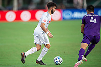 LAKE BUENA VISTA, FL - JULY 31: Diego Rossi #9 of LAFC dribbles the ball during a game between Orlando City SC and Los Angeles FC at ESPN Wide World of Sports on July 31, 2020 in Lake Buena Vista, Florida.