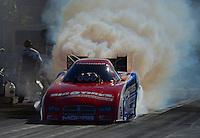Oct. 28, 2012; Las Vegas, NV, USA: NHRA funny car driver Johnny Gray during the Big O Tires Nationals at The Strip in Las Vegas. Mandatory Credit: Mark J. Rebilas-