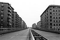 milano, il ponte della ghisolfa in una giornata di blocco del traffico --- milan, the ghisolfa bridge on a day of traffic block