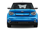 Car photography straight front view of a2015 KIA Soul EV Base 5 Door Wagon Front View