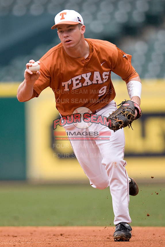 NCAA Baseball featuring the Texas Longhorns against the Missouri Tigers. Shepherd, Tant 4899  at the 2010 Astros College Classic in Houston's Minute Maid Park on Sunday, March 7th, 2010. Photo by Andrew Woolley